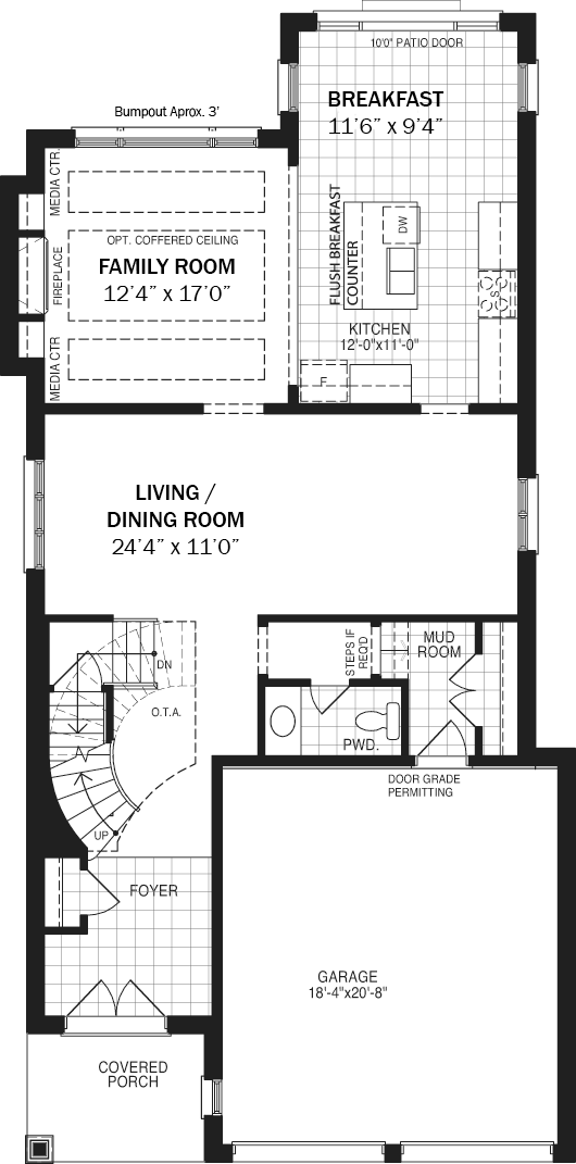 The Scarlet Main Floor Drawing